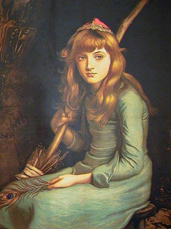 Portrait von Aschenputtel von J.E. Millais