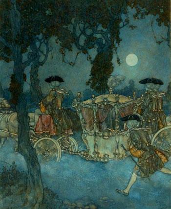Cinderella Originalaquarell von Edmund Dulac