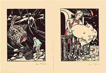 Zwölf Märchenbilder von Anne Dittmer