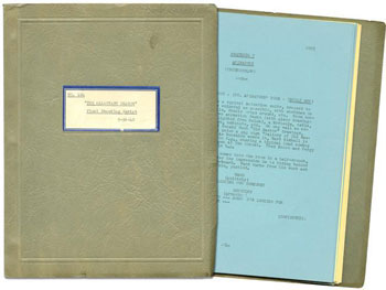 Originaldrehbuch zum Disneyfilm Der Drache wider Willen