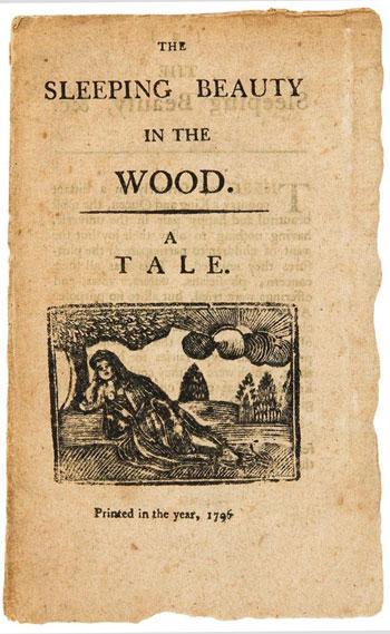 Erste englische Ausgabe von Sleeping Beauty in the Wood von 1796