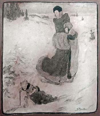 Signierte Illustration der Schneekönigin