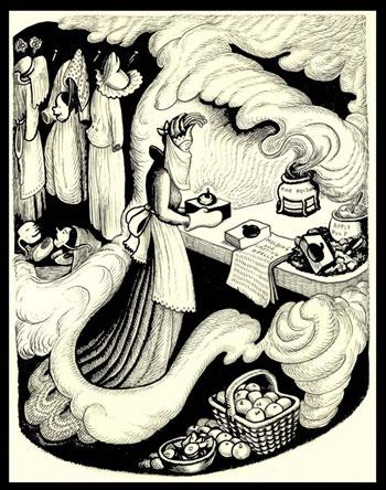 Originalillustration, The Poisoned Apple von Wanda Gag
