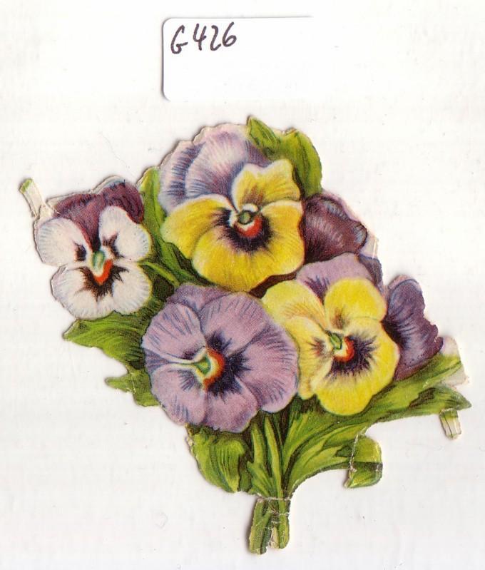 Glanzbild Blumenstrauß