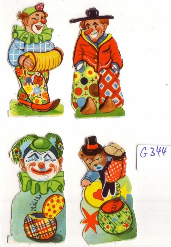 Glanzbild Clowns