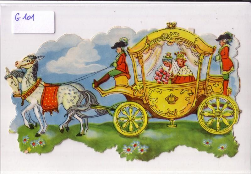 Glanzbild goldene Kutsche