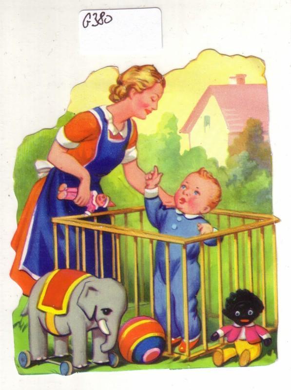 Glanzbild Mutter und Kind
