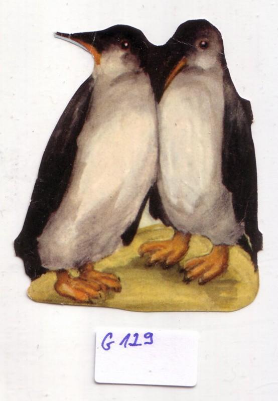 Glanzbild Zwei Pinguine