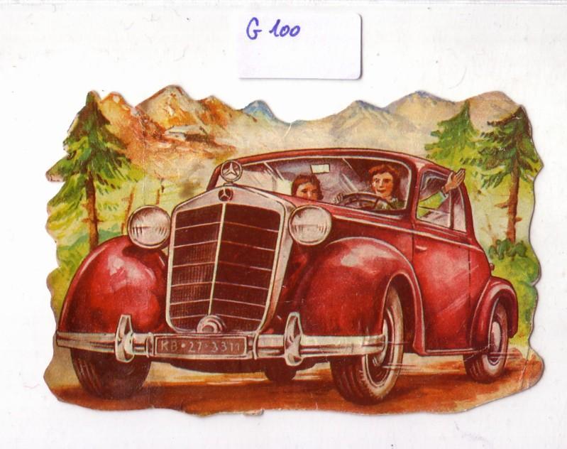 Glanzbild roter Mercedes Benz