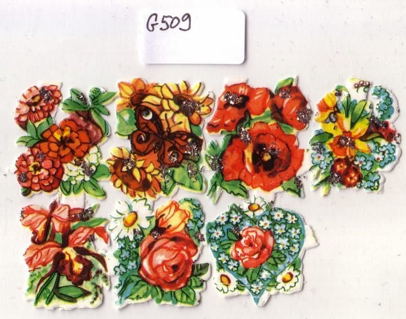 Glanzbild Serie von Blumen