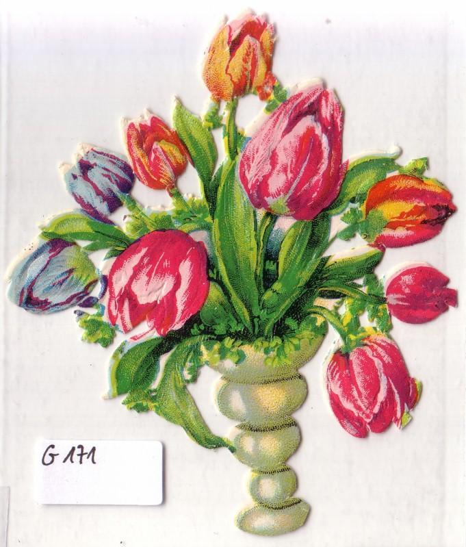 Glanzbild Blumen in einer Vase