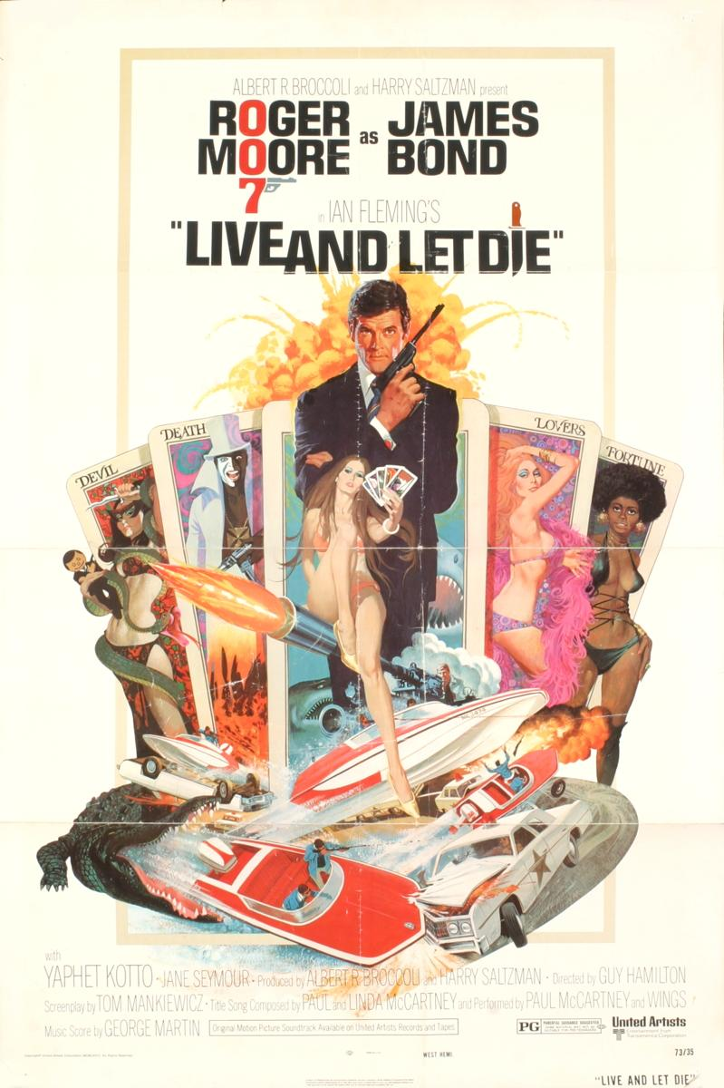 Filmposter Live and Let Die