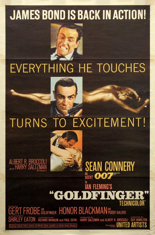 Filmposter Goldfinger
