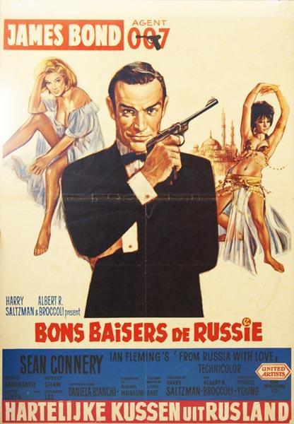 Französisches Filmplakat Liebesgrüße aus Moskau
