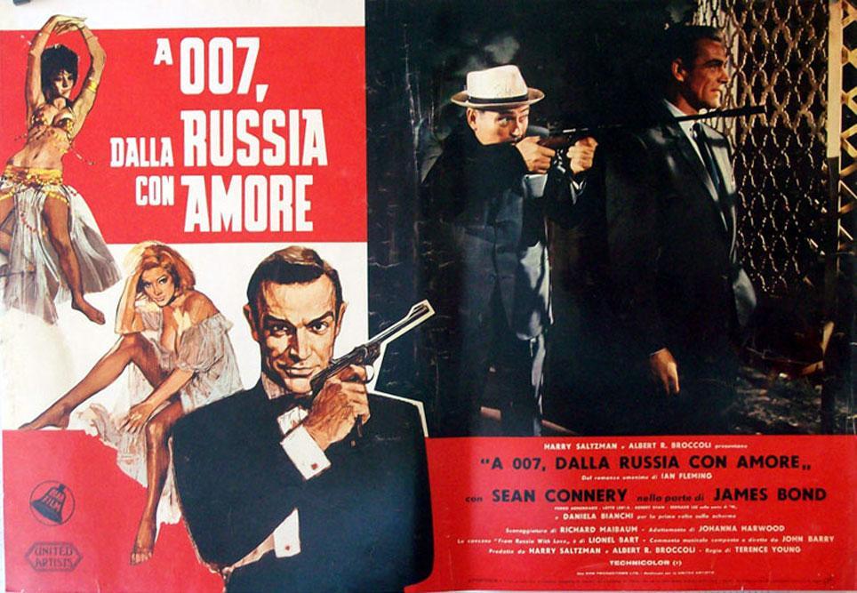 Italienisches Filmplakat Liebesgrüße aus Moskau