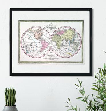 Decoración vintage: Mapas