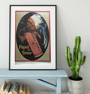 Cartel de publicidad Indio Rosa