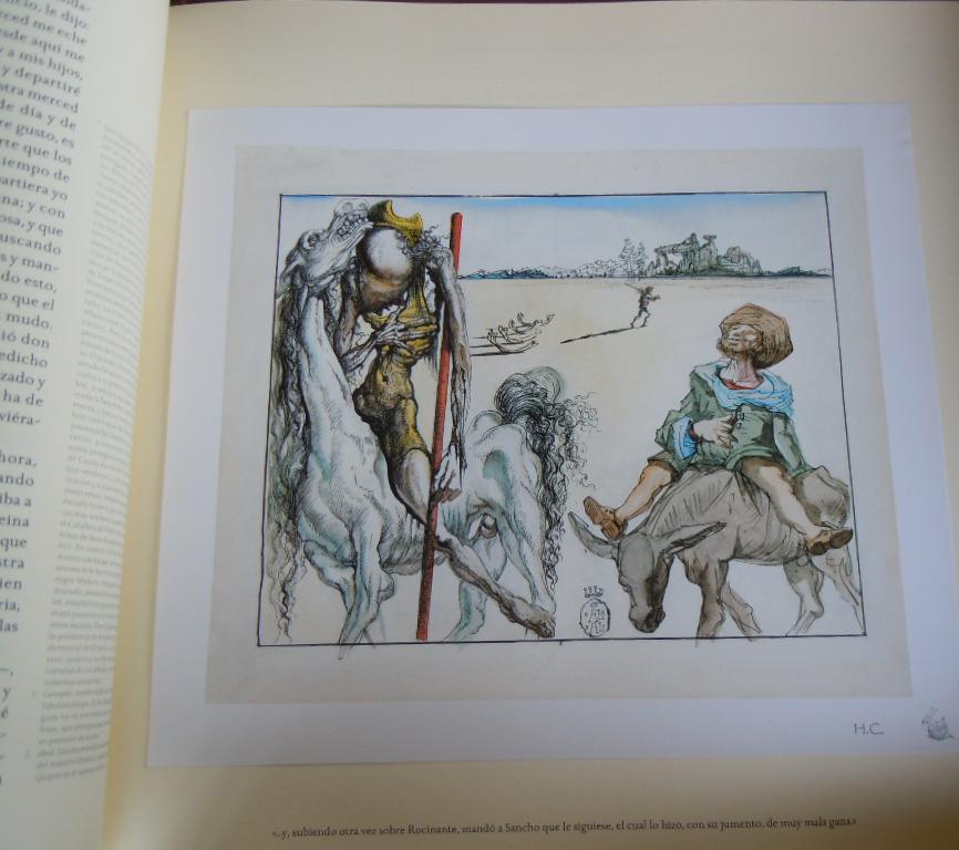 Don Quijote ilustrado por Dalí