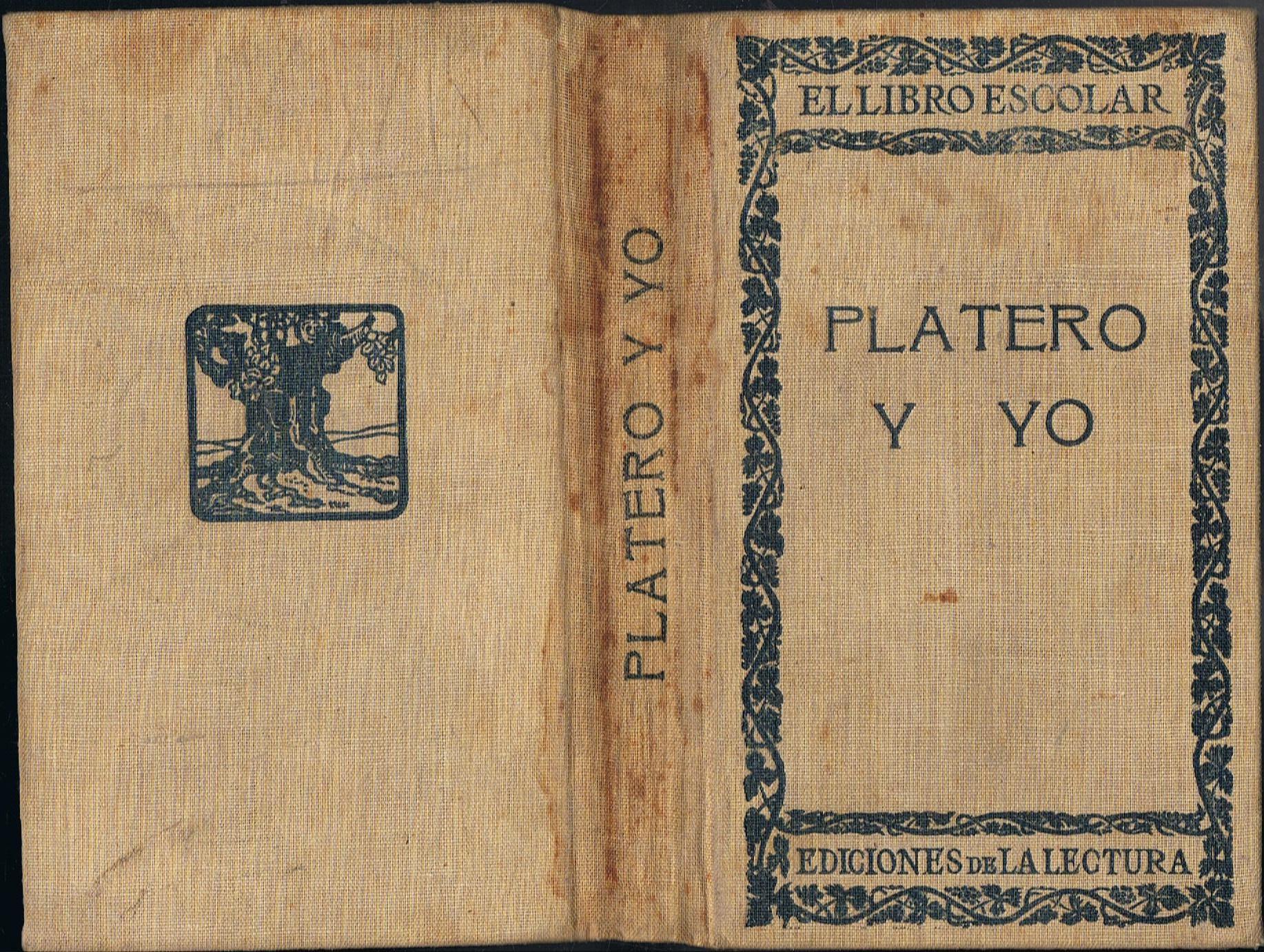 Primera edición de Platero y yo