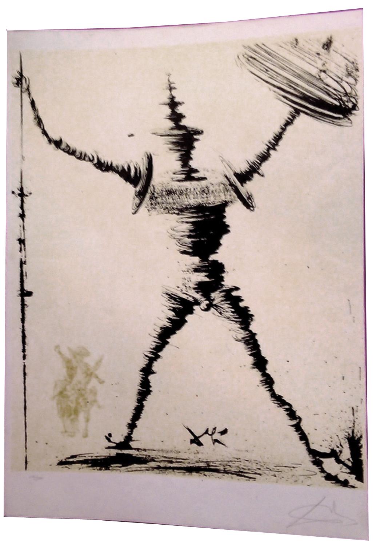 Litografía de Don Quijote