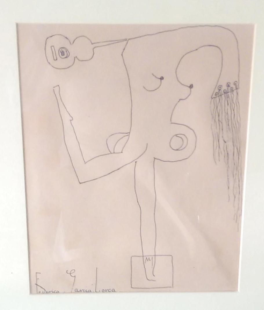 Mujer de forma musical con pechos al aire - García Lorca