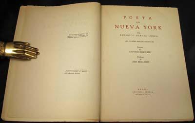 Primera edición de Poeta en Nueva York - Federico García Lorca