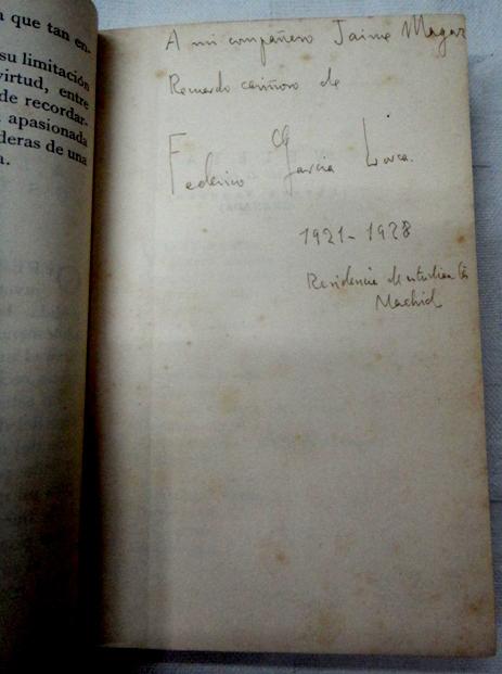 Primera edición de García Lorca