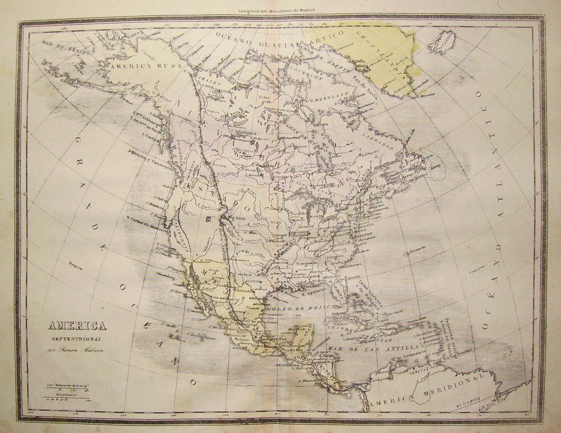 América septentrional-Litografía