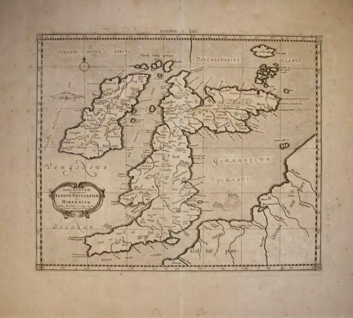 Mapa de las islas británicas