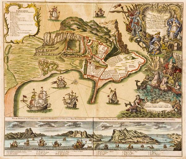 Plano de las fortificaciones de Gibraltar