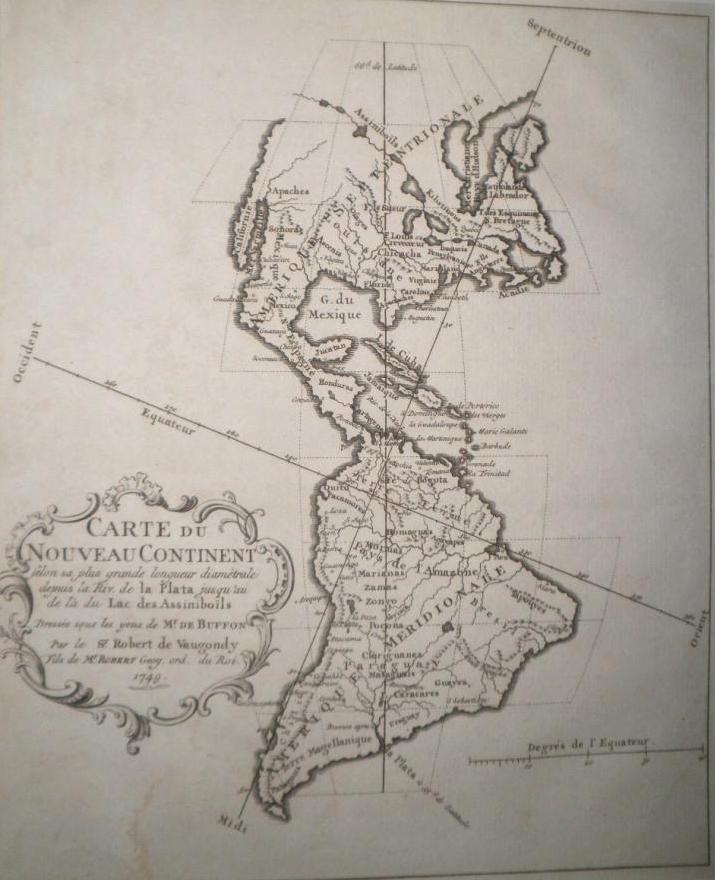 Mapa del nuevo continente