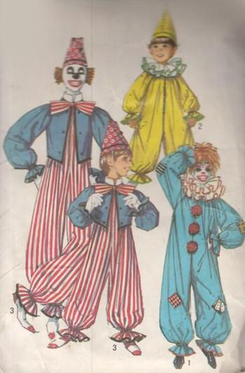 Schnittmuster Clownskostüme