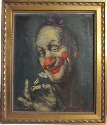 Clown Ölgemälde von Willy Pogany