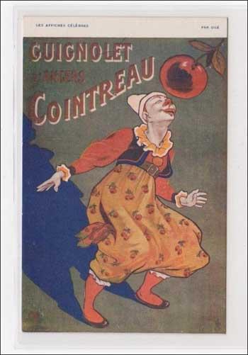 Werbepostkarte für Guignolet Cointreau