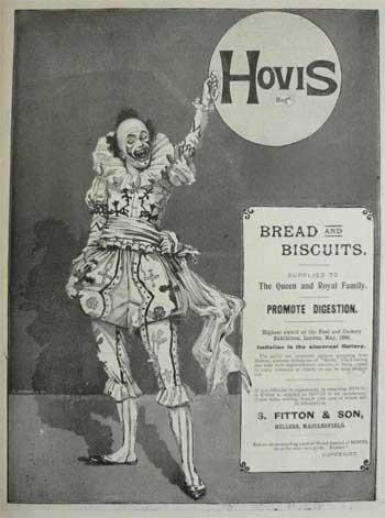 Hovis Werbeanzeige mit Clown