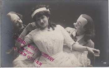 Postkarte von zwei Clowns von Whilvon Circus
