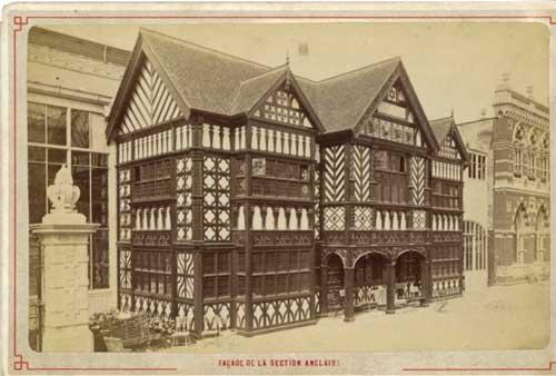 L'extérieur de la section anglaise, construit dans le style élizabethain