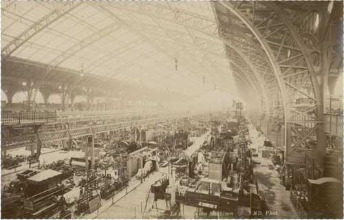 Galerie des machines, aussi connue sous le nom de salle des machines