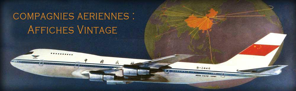 Affiches vintage de compagnies aériennes