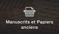 Manuscrits & Papiers anciens