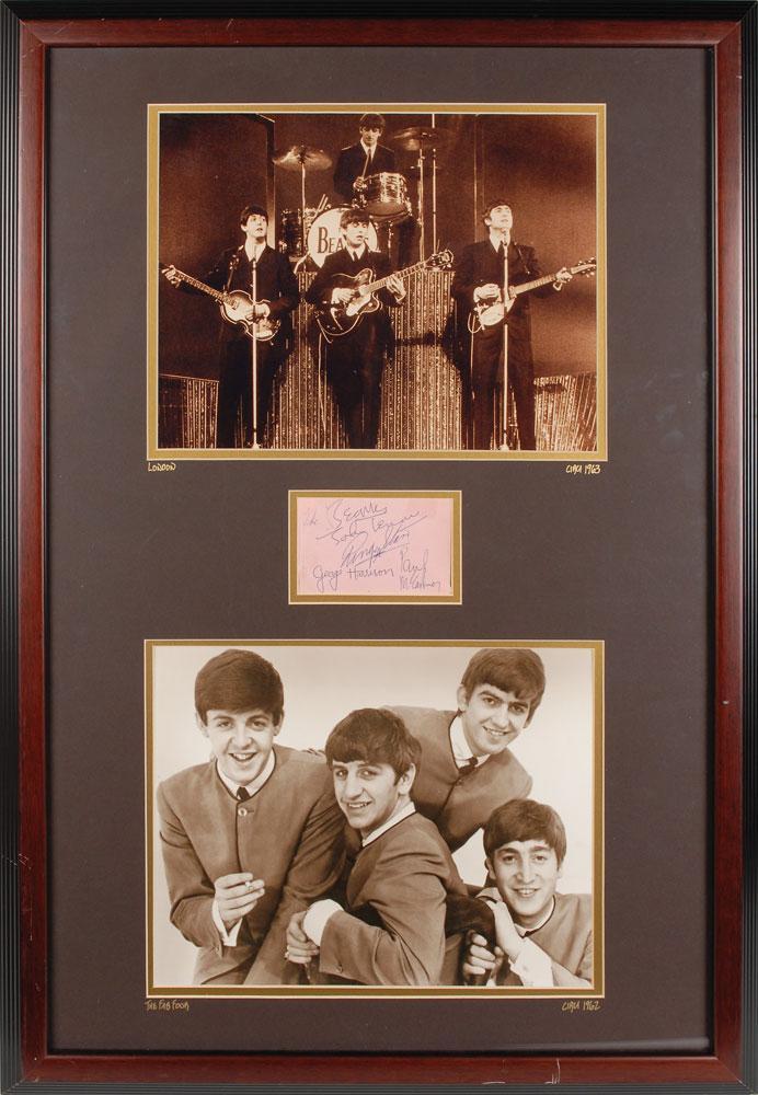 Autographe des Beatles