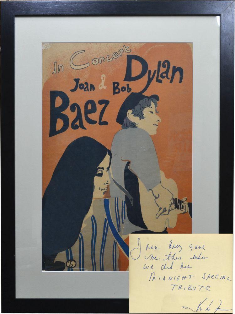 Poster de la tournée avec Joan Baez