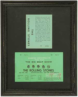 Tickets de concert des Rolling Stones