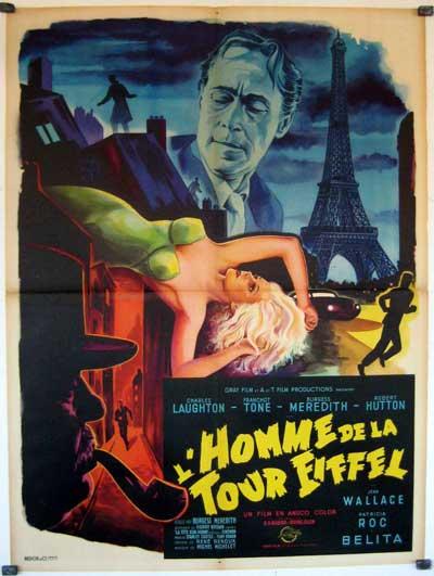 Affiche du film l'Homme de la Tour Eiffel