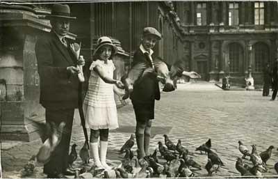 Les pigeons du Louvre