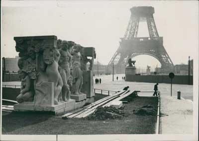 Travaux aux jardins du Trocadéro