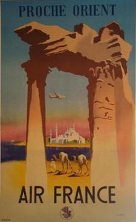 Affiche Air France - Proche Orient