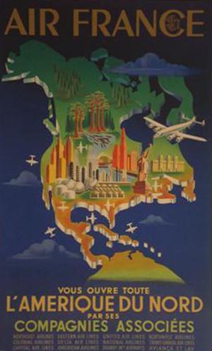 Affiche Air France - Amérique du Nord