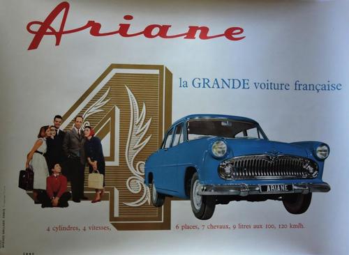 Affiche ARIANE 4 - La GRANDE voiture française