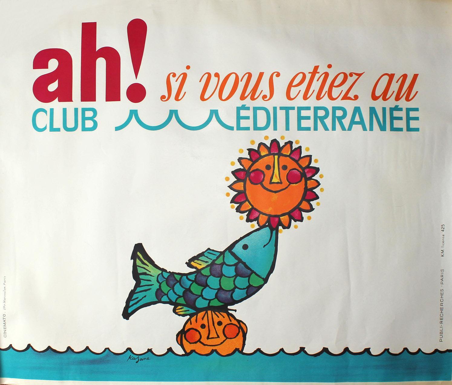 Affiche Club Med, ah si vous étiez au club med
